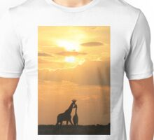 Giraffe Silhouette - Golden Beauty Unisex T-Shirt