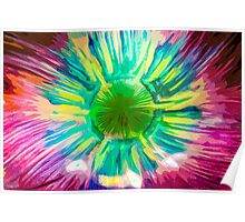 Abstract Psychedelic Sunburst Poster