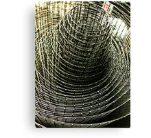 Wire Fence Canvas Print
