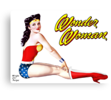 Wonder Woman Pin-Up #3 Canvas Print