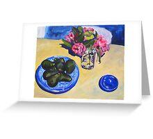 camellias and avocados Greeting Card