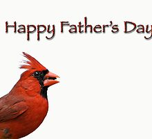 Father's Day Cardinal by Bonnie T.  Barry