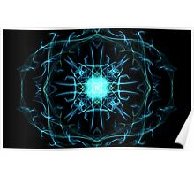 Abstract blue Poster