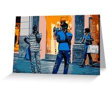 Street Vendors at Night - Madrid Greeting Card