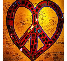 Peace, Love, Graffiti Photographic Print