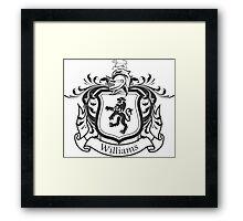 Williams Family Crest (Dark) Framed Print