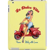 Vespa Scooter Girl - La Dolce Vita  iPad Case/Skin