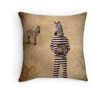 The man who fled to Africa Throw Pillow