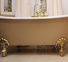 bathroom with old-fashioned bathtub by mrivserg