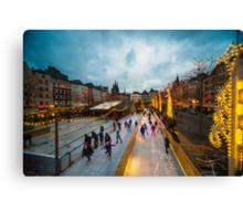 Koln Skating  Canvas Print