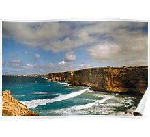 West Coast Cliffs Poster
