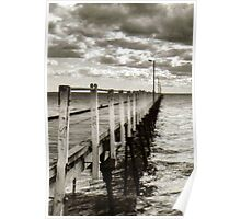 Black and White Jetty Poster