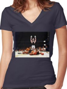 Super Punch Out Women's Fitted V-Neck T-Shirt