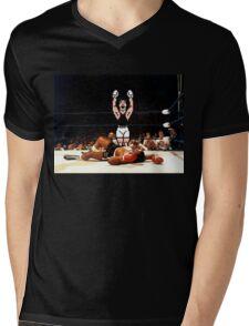 Super Punch Out Mens V-Neck T-Shirt