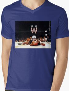 Super Punch Out Mens V-Neck T-Shirt