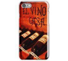 El Vino de Casa iPhone Case/Skin