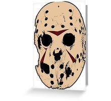 Friday the 13th (Jason Mask) Greeting Card