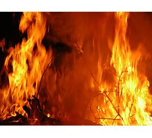 Bush fire Photographic Print