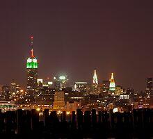Manhattan at night, New York City by Lunatic