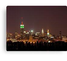Manhattan at night, New York City Canvas Print
