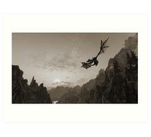 Skyrim dragon fly Art Print