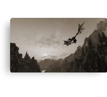 Skyrim dragon fly Canvas Print