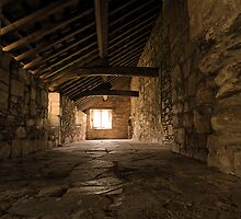 Gallery at Valle Crucis Abbey by Alan E Taylor