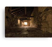 Gallery at Valle Crucis Abbey Canvas Print