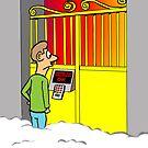 Christian Cartoon: God Tightens Security  by David Stuart