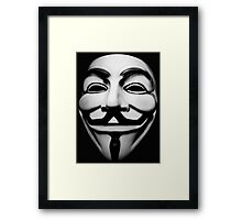 anonymous mask (V for Vendetta)  Framed Print