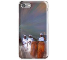 Drummers in a Dream Poster iPhone Case/Skin