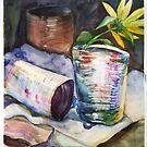 Sunflower in a tin by velvetkatz