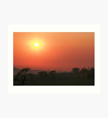 Smokey sunrise Art Print