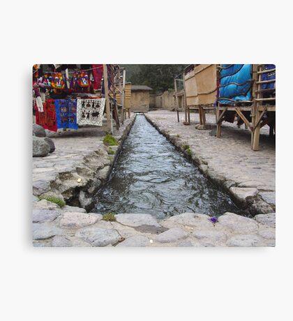 Incan Irrigation Canvas Print