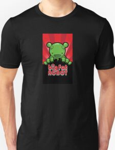 Big Fat Robot eats Melbourne - red with logo T-Shirt