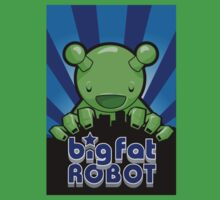Big Fat Robot eats Melbourne - blue with logo Baby Tee