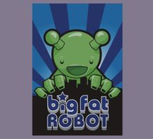 Big Fat Robot eats Melbourne - blue with logo by BigFatRobot