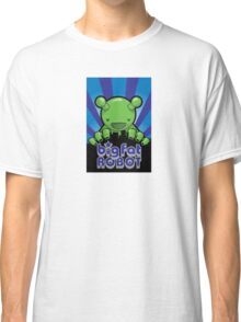 Big Fat Robot eats Melbourne - blue with logo Classic T-Shirt