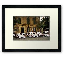 French Café Framed Print