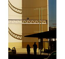 Big Yellow Taxi Stand Photographic Print