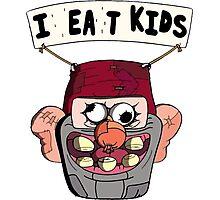 I (H)ea(r)t Kids! Grunkle Stan Balloon - Gravity Falls Photographic Print