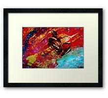 Cosmic Bleeding Rose Framed Print