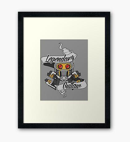 Legendary Outlaw Framed Print