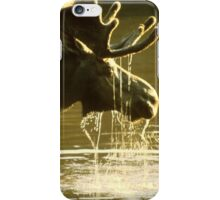 Moose Dipping His Head Into Water iPhone Case/Skin