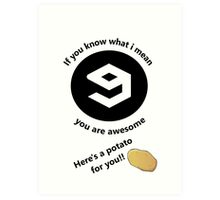 You are awesome!! Art Print
