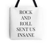 Rock And Roll Sent Us Insane, Kasabian Goodbye Kiss Lyric Tote Bag