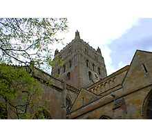 Cotswold Gloucestershire Tewkesbury Abbey Norman Architecture Clock Tower  Photographic Print