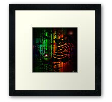 """ In the black, all the colors agree. "" Framed Print"