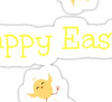 Crazy Easter Chicks Sticker
