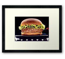 Juicy Hamburger Framed Print